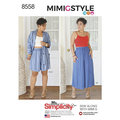 Simplicity 8558. Nederdele, toppe, bluser by Mimi G Style.