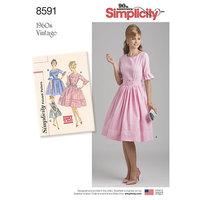 Vintage Kjole. Simplicity 8591.