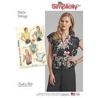 Vintage Poncho Bluser. Simplicity 8593.