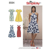Kjoler. Simplicity 8594.