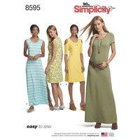 Strik Kjoler. Simplicity 8595.