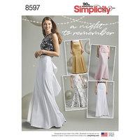 Kjoler til selskab og fest. Simplicity 8597.