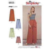 Træk-på nederdel og bukser. Simplicity 8605.
