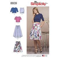Nederdele og Strik Toppe. Simplicity 8609.