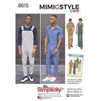 Vintage Jumpsuit og Overalls. Simplicity 8615.
