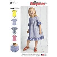Kjoler til børn. Simplicity 8619.