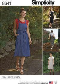 Jumper kjole med skulderstropper. Simplicity 8641.