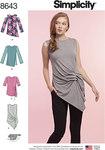 Simplicity 8643. Women's Knit Tops.