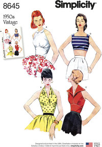 Vintage toppe. Simplicity 8645.