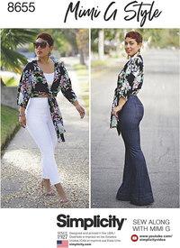 Højtalje bukser og bundet top - Mimi G. Simplicity 8655.