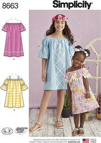 Kjoler til børn og piger. Simplicity 8663.