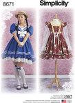 Simplicity 8671. Lolita kostume kjoler.