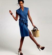 Petite kjole og bælte. Vogue 8810.
