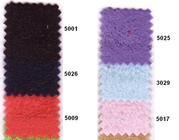 Antipiling fleece i mange farver bl.a. sort, lilla, lyserød