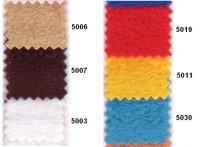 Antipiling fleece i mange farver fx brune, rød, gul, turkis