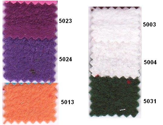 Antipiling fleece i mange farver som lilla, hvid, mørkegrøn