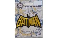 Batman skrift strygemærke 8 cm