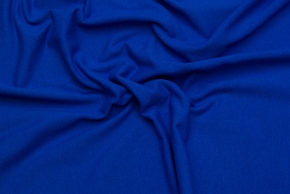 Bomuldsjersey i klassisk kvalitet i kobolt blå