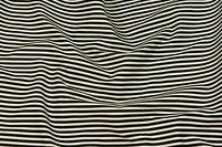 Bomuldstwill med sort-hvide 5 mm striber