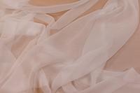 Chiffon polyester i hvid