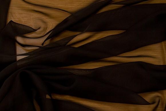 Chiffon polyester i sort