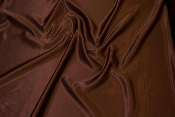 Crepe satin i choko-brun