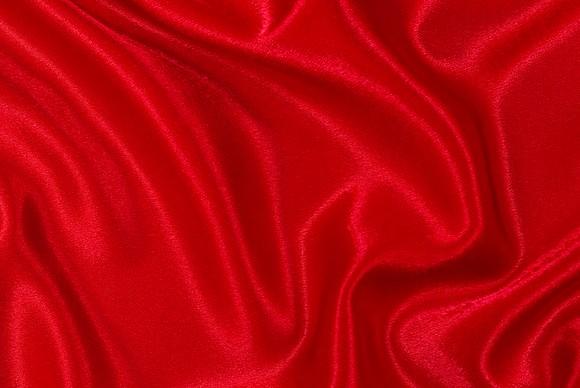 Crepe satin i rød