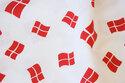 Dannebrogs-stof i bomuld og polyester - jubilæumstilbud