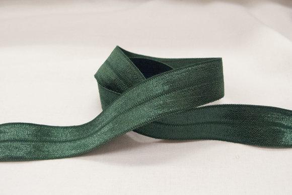 Elastikkantebånd i lys flaskegrøn 2 cm.br.