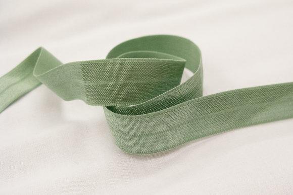 Elastikkantebånd støvet mintgrøn 2 cm. br.