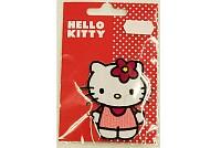 Hello Kitty stående, strygemærke 8 cm