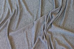 Let jersey i sølvgrå med halvblank overflade