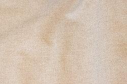 Meleret, lys sandfarvet møbelvare i polyester