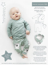 Babysæt med hagesmæk. Minikrea 11430.