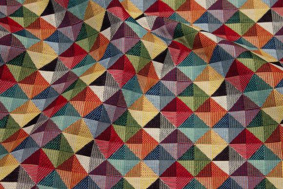 Møbelgobelin i flotte multifarver