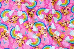 Pink bomuldsjersey med Paw Patrol og regnbuer