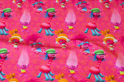 Pink bomuldsjersey med Trolls