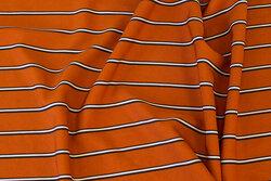 Rustfarvet, bluse og kjole polyester med stretch