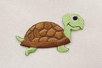 Skildpadde strygemærke 7x4cm