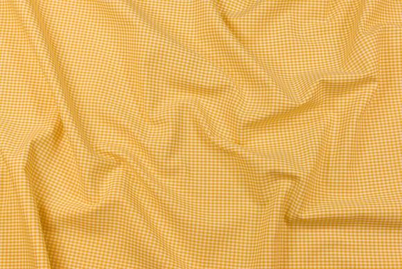 Småternet bomuld i gul og hvid
