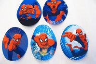 Spiderman 2stk ovale  9x7cm ass