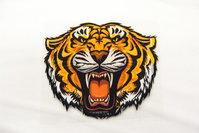 Stort tiger strygemærke 14x12cm