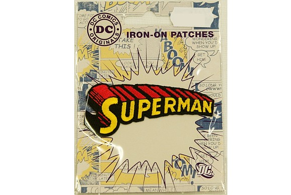 Superman tekst-logo strygemærke 7 cm