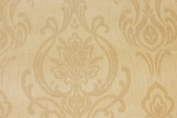 Teflonbehandlet textildug i lys sandfarvet med motiv