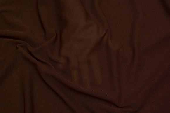 Tyndt, transparent, strækbart, mesh-polyester i brun