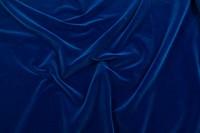 Velour i klassisk vævet kvalitet i blå farver