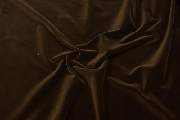 Velour i klassisk vævet kvalitet i mørk brun