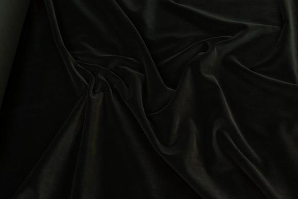 Velour i klassisk vævet kvalitet i sort el hvid