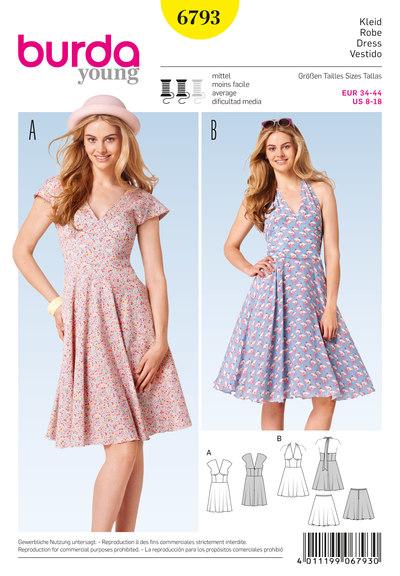 Kjole og klokkeformet nederdel