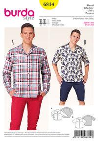 Burda mønster: Herre bluse/skjorte, afslappet model